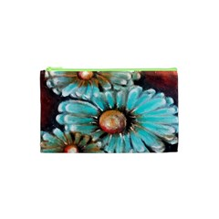 Fall Flowers No  2 Cosmetic Bag (xs) by timelessartoncanvas