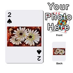 Fall Flowers No  3 Playing Cards 54 Designs  by timelessartoncanvas