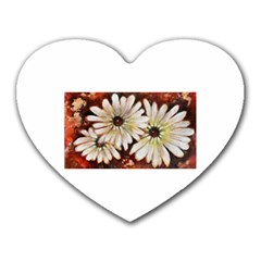 Fall Flowers No  3 Heart Mousepads by timelessartoncanvas