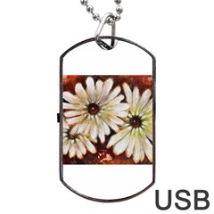Fall Flowers No  3 Dog Tag Usb Flash (two Sides)  by timelessartoncanvas