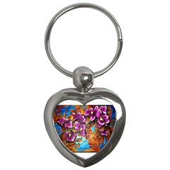 Fall Flowers No  5 Key Chains (heart)  by timelessartoncanvas