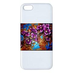 Fall Flowers No  5 Apple Iphone 5 Premium Hardshell Case by timelessartoncanvas