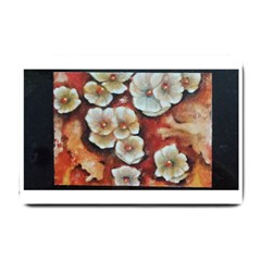 Fall Flowers No  6 Small Doormat  by timelessartoncanvas