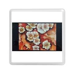 Fall Flowers No  6 Memory Card Reader (square)
