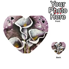 Gala Lilies Playing Cards 54 (heart)