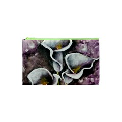 Gala Lilies Cosmetic Bag (xs) by timelessartoncanvas