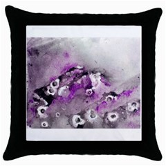 Shades Of Purple Throw Pillow Cases (black) by timelessartoncanvas