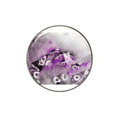 Shades Of Purple Hat Clip Ball Marker (4 Pack) by timelessartoncanvas