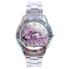 Shades of Purple Stainless Steel Men s Watch by timelessartoncanvas