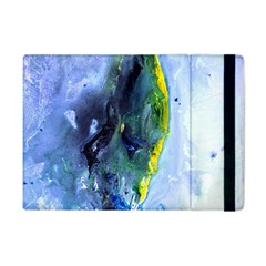 Bright Yellow And Blue Abstract Apple Ipad Mini Flip Case by timelessartoncanvas