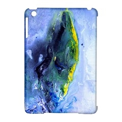 Bright Yellow And Blue Abstract Apple Ipad Mini Hardshell Case (compatible With Smart Cover) by timelessartoncanvas