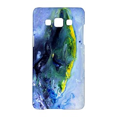 Bright Yellow And Blue Abstract Samsung Galaxy A5 Hardshell Case  by timelessartoncanvas