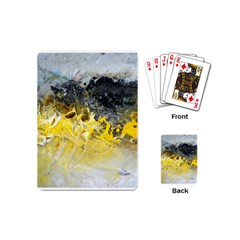 Bright Yellow Abstract Playing Cards (mini)  by timelessartoncanvas