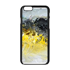 Bright Yellow Abstract Apple Iphone 6 Black Enamel Case by timelessartoncanvas