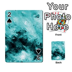 Turquoise Abstract Playing Cards 54 Designs  by timelessartoncanvas