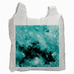 Turquoise Abstract Recycle Bag (one Side) by timelessartoncanvas
