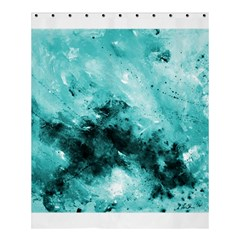 Turquoise Abstract Shower Curtain 60  x 72  (Medium)