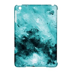 Turquoise Abstract Apple Ipad Mini Hardshell Case (compatible With Smart Cover) by timelessartoncanvas
