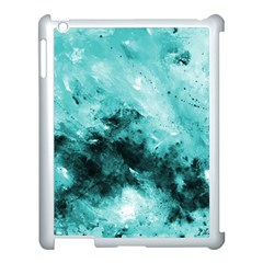 Turquoise Abstract Apple Ipad 3/4 Case (white) by timelessartoncanvas