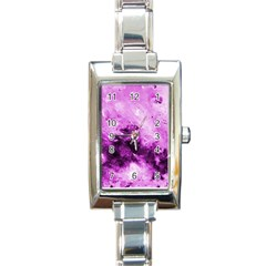 Bright Pink Abstract Rectangle Italian Charm Watches by timelessartoncanvas