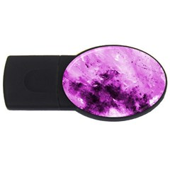 Bright Pink Abstract Usb Flash Drive Oval (2 Gb)  by timelessartoncanvas