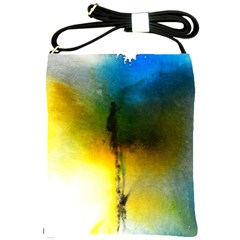 Watercolor Abstract Shoulder Sling Bags by timelessartoncanvas
