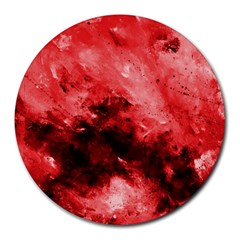 Red Abstract Round Mousepads by timelessartoncanvas