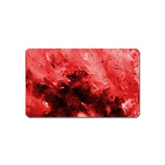 Red Abstract Magnet (name Card) by timelessartoncanvas