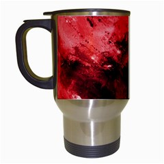 Red Abstract Travel Mugs (white) by timelessartoncanvas