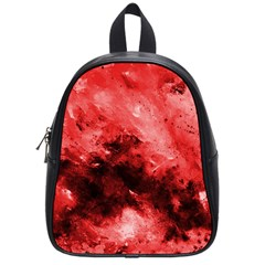 Red Abstract School Bags (small)  by timelessartoncanvas
