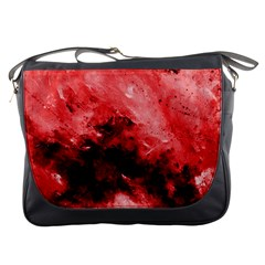 Red Abstract Messenger Bags by timelessartoncanvas