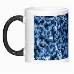 Blue Cubes Morph Mugs by timelessartoncanvas