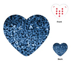 Blue Cubes Playing Cards (heart)  by timelessartoncanvas