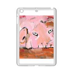 Piggy No.3 iPad Mini 2 Enamel Coated Cases by timelessartoncanvas