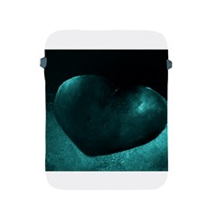 Teal Heart Apple iPad 2/3/4 Protective Soft Cases by timelessartoncanvas