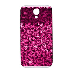 Pink Cubes Samsung Galaxy S4 I9500/i9505  Hardshell Back Case by timelessartoncanvas