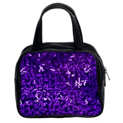 Purple Cubes Classic Handbags (2 Sides) by timelessartoncanvas