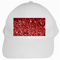 Red Cubes White Cap by timelessartoncanvas