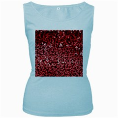 Red Cubes Women s Baby Blue Tank Tops by timelessartoncanvas