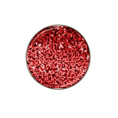 Red Cubes Hat Clip Ball Marker (10 Pack)