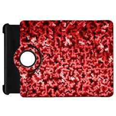 Red Cubes Kindle Fire Hd Flip 360 Case by timelessartoncanvas