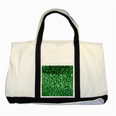 Green Cubes Two Tone Tote Bag  by timelessartoncanvas