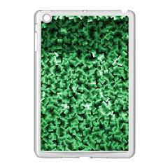 Green Cubes Apple Ipad Mini Case (white) by timelessartoncanvas