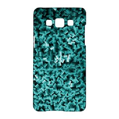 Teal Cubes Samsung Galaxy A5 Hardshell Case  by timelessartoncanvas