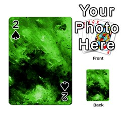 Bright Green Abstract Playing Cards 54 Designs  by timelessartoncanvas