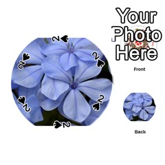 Bright Blue Flowers Playing Cards 54 (round)  by timelessartoncanvas