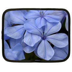Bright Blue Flowers Netbook Case (Large)	 by timelessartoncanvas