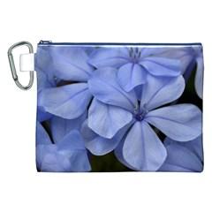 Bright Blue Flowers Canvas Cosmetic Bag (XXL)