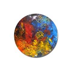 Space Pollen Magnet 3  (round) by timelessartoncanvas