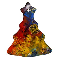 Space Pollen Christmas Tree Ornament (2 Sides) by timelessartoncanvas